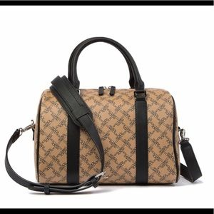 French Connection Marin Speedy Satchel Dark Camel
